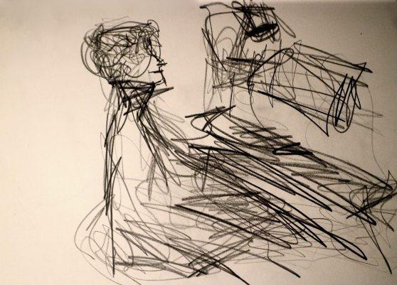 Leonhard Dering - Pianist -Drawing: Marcela Lucatelli