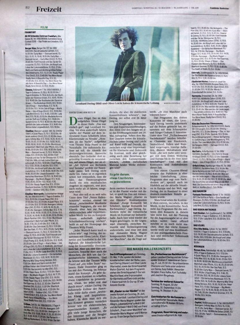 Naxos Hallenkonzerte _ Frankfurter Rundschau _ Wochenendausgabe 12.-13.5.18 _ S.2